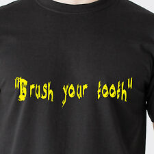 """""""Brush your tooth"""" red neck radio hick duck south brush retro Funny T-Shirt"""