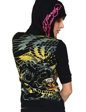 New Ed Hardy by Christian Audigier  women's black hoodie 12899