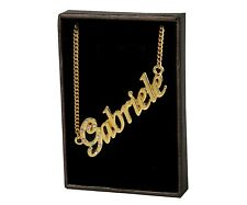 """Name Necklace """"GABRIELE"""" – 18K Gold Plated   Christmas Designer Gifts For Her"""