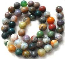 """8mm 10mm 12mm Indian agate round loose beads 15"""""""