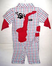 Da Lil Guys DLG 354 Baby Boy Sax Horn 6 or 9 Months Outfit Romper New!
