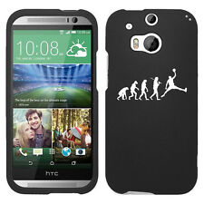For HTC ONE M8 Rubber Hard 2 Piece Snap On Case Cover Evolution Basketball