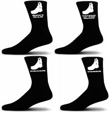 Black Luxury Cotton Rich Wedding Socks, Groom, Best Man, Usher Elegant Figures