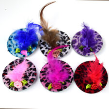 2014 New Caps Fur Leopard Design Dog Hair Bows 6CM Pet Dog Grooming Product