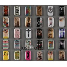 For Samsung Galaxy Fame S6810 Cute Owl Bear Flower Cross Back Skin Case Cover