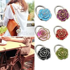 Folding Handbag Purse Bag Hanger Durable Table Hook Hang Holder Flower Shape