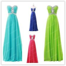 Fashion Bead Sexy Hollow Long Formal Evening Prom Dresses Bridesmaid Party Dress