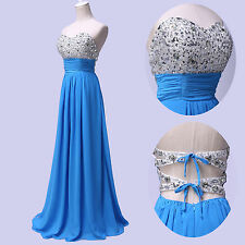 2014 Long Strapless Cocktail Evening Dress Prom Party Wedding Bridesmaid Dresses