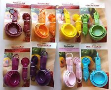 KitchenAid set Plastic Measuring Cups and Spoons Soft Grip Handles  Choose Color