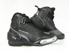 PADDOCK ANKLE SHORT MOTORBIKE SCOOTER MOPED CITY BOOTS XTRM O74 BLK