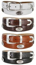 Golf Club - Italian Calfskin Genuine Leather Golf Conchos Designer Dress Belt