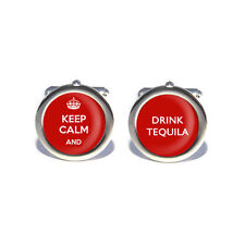 Stag Do, Birthday Keep Calm and Drink Tequila Cufflinks with Personalised Engrav