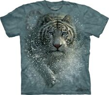 Wet & Wild T-Shirt by The Mountain. Tiger Cat Zoo Wild Animal Sizes S-5XL NEW