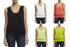 NEW Kenneth Cole New York Sleeveless Crossover Knit Top. S,M,L