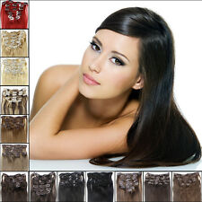 100% Real Remy Indian Human Hair Extensions a FULL head clip in hair more colors