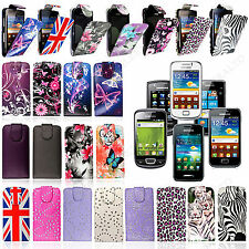 For Samsung Mobile Phones Stylish Printed PU Leather Magnetic Flip Case Cover