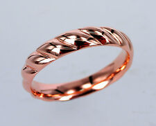 GENUINE 9ct 9K Solid Rose Gold RING BAND STAMPED ENGAGEMENT WEDDING DOME RING