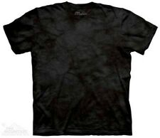 Black Solid Color Tie Dye T-Shirt by The Mountain. Sizes S-3XL NEW
