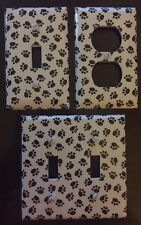 PAW PRINTS DOGS CATS OUTLET COVERS AND SWITCH PLATES - FREE SHIPPING-