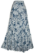 LADIES LONG CRINKLE COTTON TIERED HIPPY BOHO GYPSY MAXI SKIRT  NEW 2017 DESIGNS