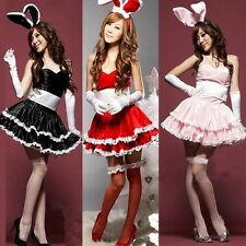 Hot Sexy Cute Bunny Girl Lingerie Role Play Rabbit Girl Costume Babydoll Dress