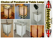 * RETRO VINTAGE STYLE JAPANESE TABLE LAMP PENDANT KITSCH BOX LIGHT FENG SHUI NEW