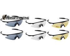 2X Airsoft Tactical Sporty UV400 Protection Police Shooting Glasses Black/TAN B
