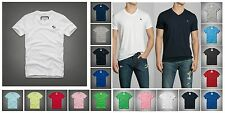 New Abercrombie by Hollister Men V Neck BUSHNELL FALLS TEE Shirt Muscle Fit Size