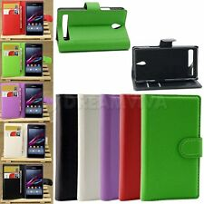 PU Leather Flip Stand Case Cover Skin For Sony Xperia E1+Film