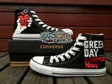 CONVERSE All Star GREEN DAY pop punk band hand painted shoes zapatos scarpe