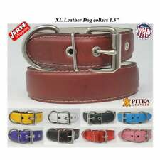 Best Collar for Dogs - Durable Dog Collars - Wide Studded Leather Dog Collar, XL