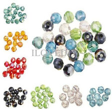 Bulk 30pcs Crystal Glass Faceted Loose Spacer Rondelle Beads Finding 6mm