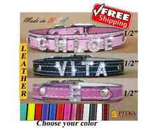 FREE SHIPPING - Dog Collars with names - Cool Dog Collars - Bling Cat Collars XS