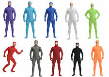 Free Shipping Unisex Spandex Lycra Face Out Unicolor Zentai Catsuit Back Zipper