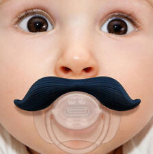 Mustache Pacifier Party Gift Beard Soothie Man Funny Baby BPA Free USA Ship