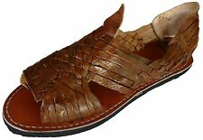 QUEBAJA Men's Huarache Sandals - BROWN RAW & RUSTIC - Mexican Sandals AUTHENTIC