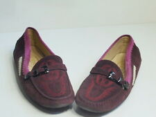$569 Tod's Women Embroidered Driving Loafer Purpel and Pink Size 9