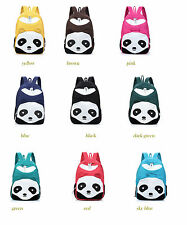Lady Panda Backpack Campus School Hiking Bags Canvas travel bag Rucksack 9Colors