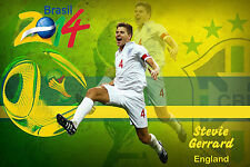 World Cup Players Poster in 2 sizes - Steve Gerrard