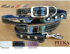 Luxury Dog Collars and Leashes -  Leather Collars and Leashes for Medium Dogs