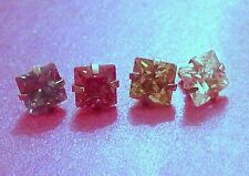 Micro Dermal Body Jewelry Anchor Tops Surgical Steel 14g Princess Prong Square