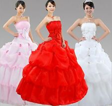 Retro Lotus Fashion Strapless Wedding Dresses/Bow-knot Floor Length Bridal Dress