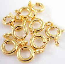 10Pcs - 14K Gold Filled Spring Ring Clasp Necklace Jewelry