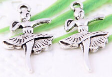 Wholesale 22/50Pcs Tibetan Silver (Lead-Free)Lovely Girl Charms Pendant 28x15mm