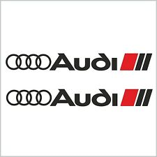 2pcs AUDI SPORT LOGO RINGS DECAL STICKER M1 A3 A4 A5 A6 A7 A8 S3 S4 S5 S6 S8 RS