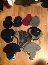 2 WINTER hats TRAPPER BOMBER STYLE AND beanie with visor choice of 2