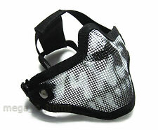 New Tactical Hunting Metal Half Face Mask Mesh Airsoft Paintball Protective MASK