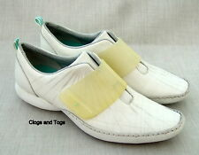 NEW CLARKS PR!VO PATIA BAR WHITE LEATHER SHOES SIZE 4 / 37