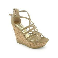 NEW Women's Casual BAMBOO high heels Platform Strappy wedges Sandals 3colors W6