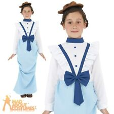 Child Posh Victorian Girl Costume Mary Book Week Day Fancy Dress Outfit New
